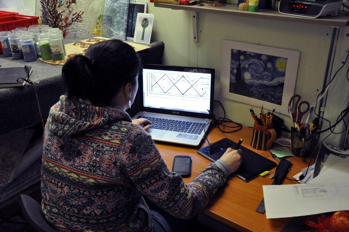 Дизайн витража в нашей студии